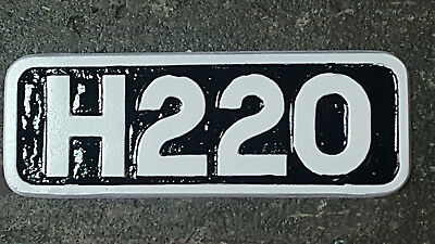 H220 miniature Loco Plate cast in aluminium and painted in Enamel 20cm x 7cm app
