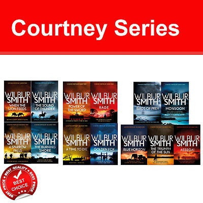 The Courtney Series 1-13 Wilbur Smith collection books set Fiction pack NEW