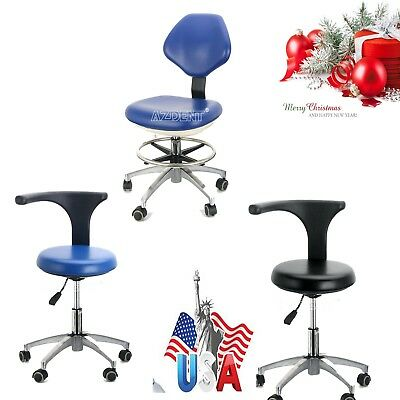 Dental PU Leather Medical Stool Doctor Assistant Stool Mobile Chair Adjustable