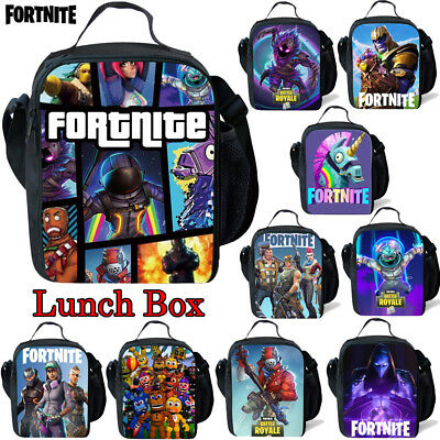 Fortnight Girls Fortnite Lunch Bag Boys Battle Royale Snack School Box Hand Bag