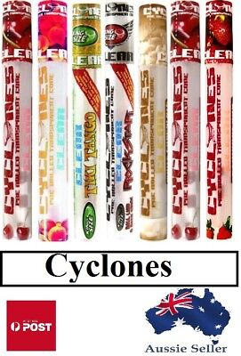 Cyclones Clear Pre-rolled Blunts Rolling Cones Hemp Flavoured Tip