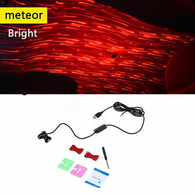USB Red LED Projector Star Light Car Interior Atmosphere Meteor Lamp Home Party