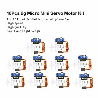10X 9g Mini Getriebe Micro Servo Motor RC RobotHelicopter Flugzeug Helicopter &K