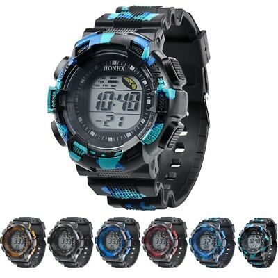 Kids Boys Girls Digital LED Waterproof Multi Function Sports Wrist Watch Unisex