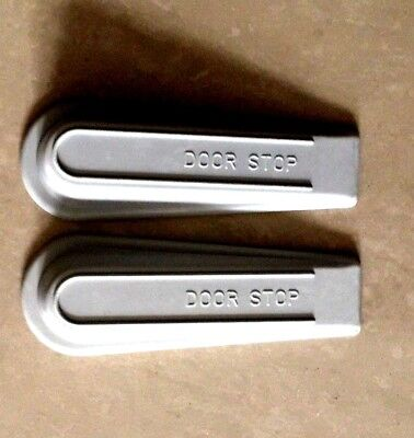 Pack Of 2 - White Heavy Duty Rubber Door Wedges Stop Stoppers Home & Office