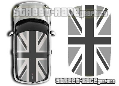 Mini roof 030 Union Jack flag graphics stickers decals One BMW R56 Cooper