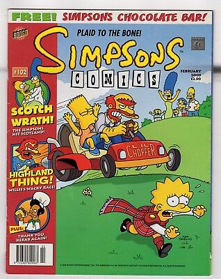 SIMPSONS COMICS [#102]: Plaid to the Bone! / Bongo Comics / February 2005
