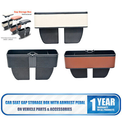 2 in one White color Car Seat Organizer Seam Storage Bag and Armrest Phone