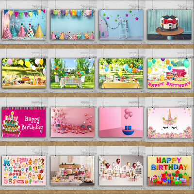 Birthday Party Photo Backdrop Baby Photography Background 5X7/7X5/6X6/8X8FT Prop