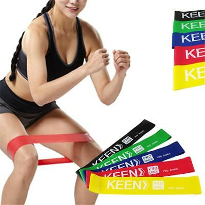 Resistance Elastic Rubber Rope Strap Stretch Loop Band Gym Yoga Fitness Exercise