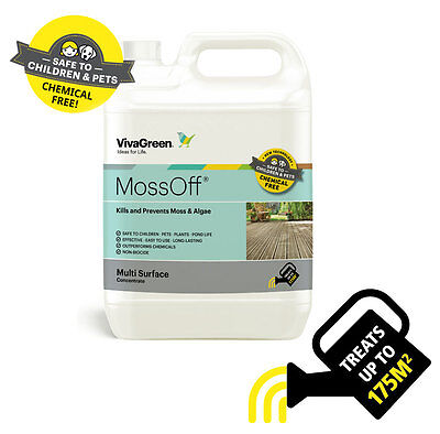 Moss Off 2L Magic Moss Killer Algae Remover Patio Drives Paths Decking Cleaner