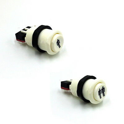 DIY Arcade Happy Style Push Button With Microswitches for Jamma Mame White UK