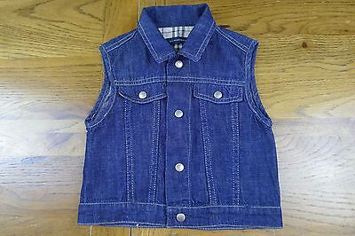 Burberry baby jeans vest/gilet size 12 months