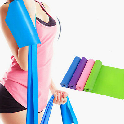 Candy Color Gym Yoga Pilates Stretch Resistance Exercise Fitness Band Belt LH