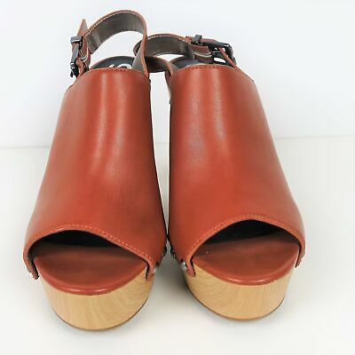 ed72a3f3d Circus by Sam Edelman Womens High Heels Wedge Sandals Slingback Brown Size 8