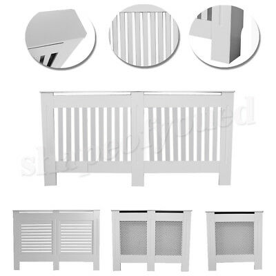 White Radiator Cover Cabinet Central Heating Heater Shelf Wooden Protector-5Size