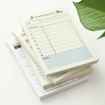 Stationery Portable Notebook Notepad Memo Pad Blank Writing Paper Checklist