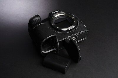 Genuine Real Leather Half Camera Case Bag Cover for Canon EOS R