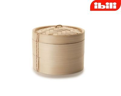 "Ibili 2 Tier Woven Bamboo Steamer Chinese Oriental 12cm / 5"" 727510"