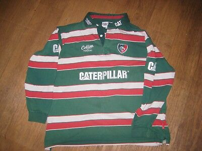 Cotton Traders Leicester Tigers adult rugby shirt. Size XXL