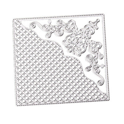 Lace Square Metal Cutting Dies Stencil Scrapbooking Card DIY Embossing Craft