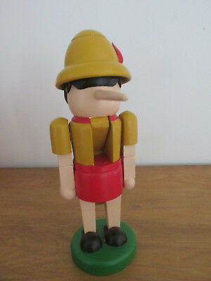 Pinocchio Painted  Wood Nut Cracker 10 1/2""