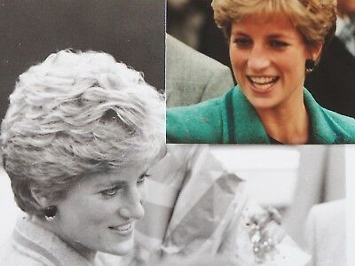 2 x Diana Princess Of Wales Original Unpublished Photographs Walsall 1991