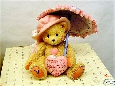 CHERISHED TEDDIES FIGURINE 1993 VICTORIA 916293 FROM MY HEART TO YOURS with BOX