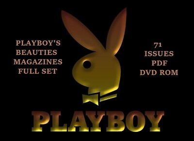 Playboy's Beauties Magazines Full Set  71 Issues In PDF on DVD ROM
