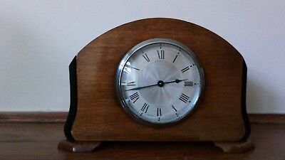 BUREN MAHOGANY 8 DAY TIMEPIECE MANTLE CLOCK RETAILED BY J W BENSON OF London.