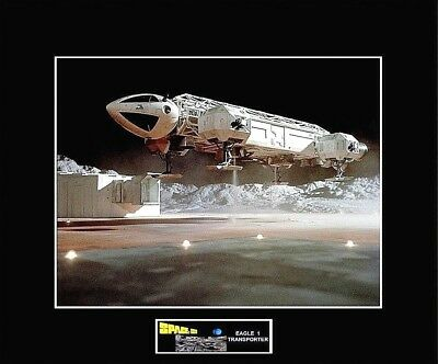 """SPACE 1999 Eagle 1 Launch Pad """"Lift-Off"""" 8"""" x 10"""" Photo -11"""" x 14"""" Black Matted"""