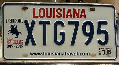 Louisiana Andrew Jackson New Orleans license plate tag NO RESERVE!!!!