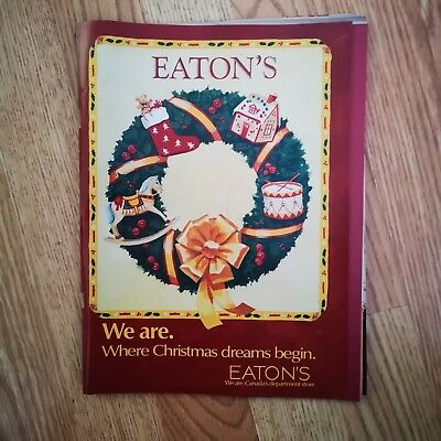 Eaton's Dec 1988 Christmas Catalog 116 pages in VG condition