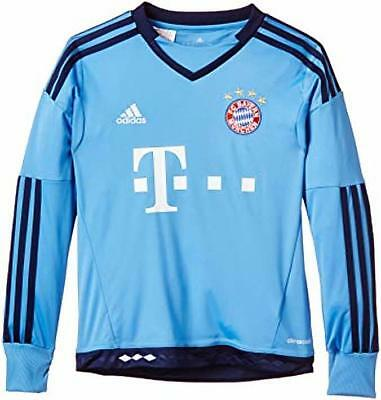 ADIDAS kids boys junior bayern munich home goalkeeper shirt top age 7-8 13-14