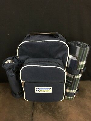 Royal Caribbean Retired Backpack NEW Picnic Cooler Cutting Board Plates Cups