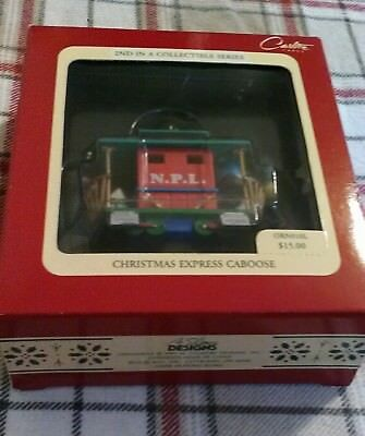 Christmas Express Caboose Ornament 2nd In A Series 1991 Carlton Cards