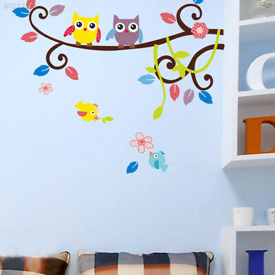 5A8E Owl Branch Tree Wall Sticker Kids Room Stickers Decoration Decor Removable