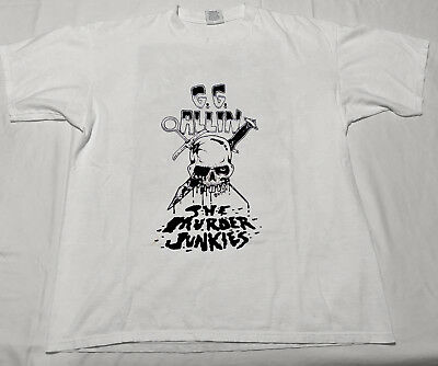 "GILDAN t shirt REPRINT vtg ""g.g allin"" & the Murder Junkies 1993 Punk Hardcore"