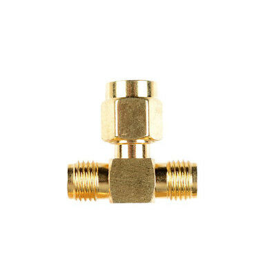 5Pcs SMA Male to Two SMA Female Triple T RF Adapter Connector 3 Way Splitter US