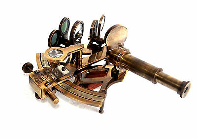 Handmade Solid Brass Maritime Sextant Nautical Collectible Vintage Marine Gift.