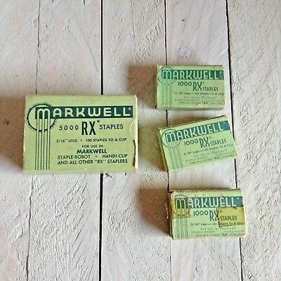 Vintage MARKWELL RX STAPLES Made USA In Boxes