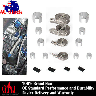 Stainless Braided Engine/Fuel/Heater/Vacuum/Oil Line Hose Sleeving Kits Dress Up
