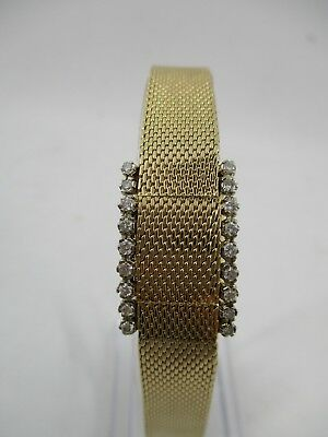 Vintage 1962 Omega 14K Yellow Gold Covered Cocktail Watch with 18 Diamonds