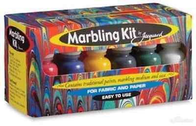 Jacquard Marbling Kit of 6 colours of marbling paint plus chemicals
