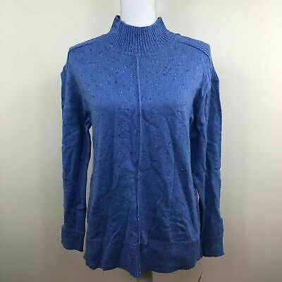 Karen Scott Womens Cable Knit Sweater Navy Blue Speckle Variety Sizes