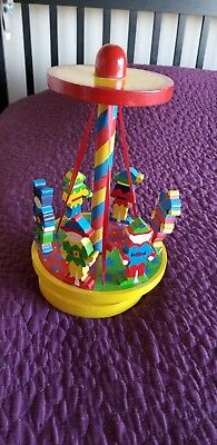 Primary Colors Wooden Carousel