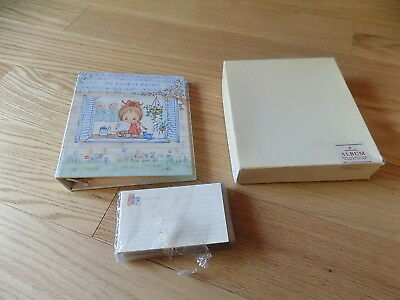 Vintage Hallmark Betsy Clark Library Recipe File Album Book with cards