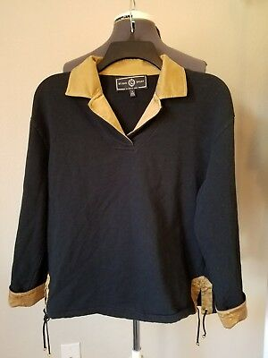 St. John Sport by Marie Gray Black Pullover Size P
