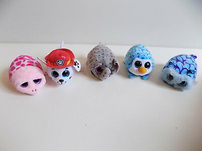 TY set of 5 plush soft toys / animals shuffler gus mimi immaculate   lm1