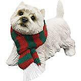 Sandicast West Highland White Terrier with Scarf Christmas Ornament